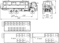 Вахтовый автобус НЕФАЗ 4208 на шасси Камаз 5350