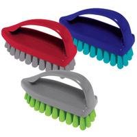 """Щетка для одежды/обуви, средняя, 7,5х10,5х4,5 см, пластик, цвет ассорти, """"У"""