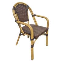 Кресло CAC-1018 бамбук/темно-светло-коричн. клетка