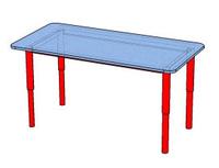 Стол детский прямоугольный 1100х560х520/600