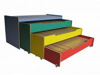 Кровать для детского сада 1,9х0,85х1,0 м выкатная 3х секционная