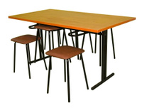 Стол обеденный м/каркас 1,5х0,65х0,75